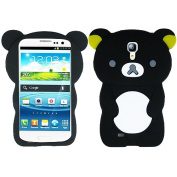Black Bear Silicon Soft Rubber Skin Case Cover For for Samsung Galaxy S 4 S4