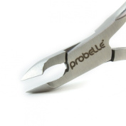 Probelle Cuticle Nipper Stainless Cobalt - Half Jaw Nipper- Long Lasting Durable Premium Tool -Designed for Fingernails and Toenails