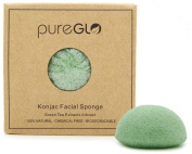 Konjac Sponge (Green Tea) - 100% Natural & Chemical Free - Deep Cleansing & Exfoliating Facial Sponges