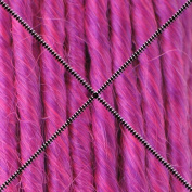 Doctored Locks Extra Long Premade Synthetic Dreadlocks - 60cm Double Ended Hair Extensions - Neon Violet/Hot Pink