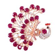 Korean Style Vintage Jewellery Crystal Purple Peacock Hair Clips for Women Head Wear Beauty Tools