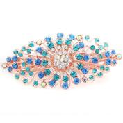 Women's Bridal Wedding Jewellery Crystal Rhinestones Decor Flower Style Hair Clip Hair Pin Hair Beauty Accesories