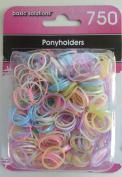750 Rubber Elastic Ponyholders - Pastel