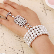 Bridal jewellery popular Fashion Christmas gift The Great Gatsby Pearl Bridal Bracelet with bangle Set for Women