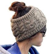 Twist Wave Knitted Crochet Wool Flora Headbands Hat Headgear Headwrap Ear Warmer Hairband for Women Lady Girl