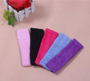 AUCH 10Pcs 7CM Fabric Wide Exercise/Yoga Hair Ribbon/Band/Rop/Tie, Random Colour