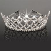 Crazy K & A Charming Rhinestone Rhombus Flower Design Tiara Crown Headband Comb Pin Wedding Bridal Party Birthday Tiaras