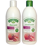 Nature's Gate All Natural Organic Pomegranate Sunflower Defence Shampoo and Conditioner Bundle With Anti-Dandruff Flaky Scalp Treatment, Jojoba, Witch Hazel, Borage, Rosemary, Mint and Nettle, 530ml each