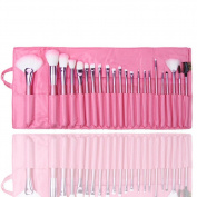 New 22/24 Pcs Professional Makeup Brush Sets Make Up Tools Kit Bag Case Pink