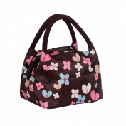 Cute Colourful Nylon Zipper Portable Cosmetic Lunch Picnic Handbag Bag