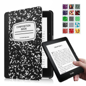 Fintie SmartShell Case for Kindle Voyage - [The Thinnest and Lightest] Protective PU Leather Cover with Auto Sleep/Wake for Amazon Kindle Voyage (2014), Composition Book Black