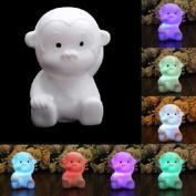 Liroyal Colour Change Decoration LED Lamp Night Light Candle Flash Kids Monkey