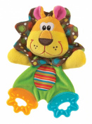 Playgro Teething Blankie for Baby, Roary Lion/Colourful