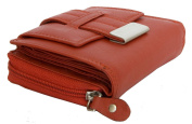 Women's Red Nice Quality Soft Genuine Leather Wallet Roberto