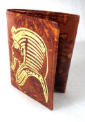 King TUT Egyptian Hand Made Genuine Leather Handcrafted Wallet Pharaoh Ethnic