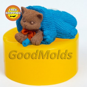 The Cat in the СHristmas Mitten Soap Mould Food-grade Silicone Moulds Mould for Soap Christmas Mould Mould New Year Mould.