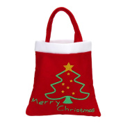 Binmer(TM)Christmas Fabric Gift Candy Bag Sacks Xmas Party Gift Bag Presents Toy Bag