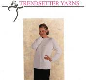 Trendsetter Yarns Knitting Pattern #2317 Balboa Box St. Pullover