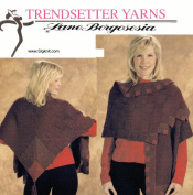 Trendsetter Yarns Lane Borgosesia Knitting Pattern JSS #4 Merino Sei Mitred Trim Poncho
