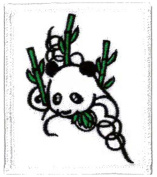 Panda Embroidered Patch 6 X 7CM