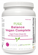 HIT Shape, Pure Balance Vegan Complete, Vegan Protein with a full serving of Daily Vitamins, French Vanilla, 560 Gramme