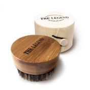 Beard Oil Brush For Men - Bamboo Pure Boar Bristles For The Perfect Grip - Works Wonders With Balm Or Conditioners To Comb Beards and Moustache - In A Great Holiday Gift Box - My Best Beard Oil Brush