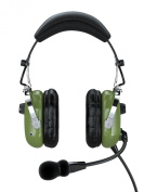 FARO G2 ANR (Active Noise Reduction) Premium Pilot Aviation Headset with Mp3 Input (Available adapters for aviation headset connectors, helicopter adapter, universal pilot headset, standard dual GA adapter universal support) - Green