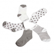 AutumnFall® 5 Pair Cotton Baby Socks Newborn Floor Socks Baby Cotton Socks