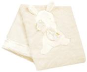 Bunnies By The Bay My Blankie Blanket, Cream, 70cm x 90cm by Bunnies By The Bay
