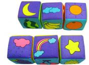 Baby Learning Toys Foam Building Blocks Cube Cloth Books 6pcs/set