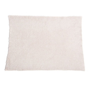 Barefoot Dreams Cozychic Heathered Blanket Dusty Rose/White