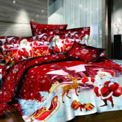 Zabrina Christmas Bedding Set, Christmas Comforter Bedding Sets Ids Christmas Bedding Cotton Bedding Bed Covers Bed Linens Bed Sheet Sets Bedclothes Christmas Santa Claus Quilt Cover