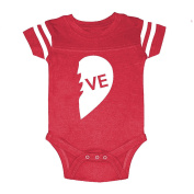 We Match! Unisex-Baby VE (Part Of The Two Parts of A Heart = Love Set) Football Bodysuit
