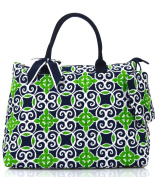 NGIL Navy Sailor Print Quilted Shopping Tote