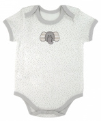 Stephan Baby Snapshirt-Style Pin Dot Nappy Cover with Embroidered Elephant, Grey, 6-12 Months