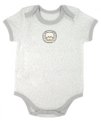 Stephan Baby Snapshirt-Style Pin Dot Nappy Cover with Embroidered Lion, Grey, 6-12 Months
