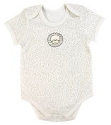 Stephan Baby Snapshirt-Style Pin Dot Nappy Cover with Embroidered Lion, Cream, 3-6 Months
