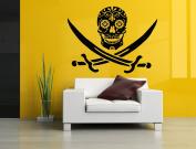 Wall Room Decor Art Vinyl Sticker Mural Decal Pirate Sugar Scull Flag Skeleton Grim Poster AS2933