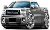 """Ford F-150 4 Door Work Truck Shop Wall & Home Decor Large 60cm x 48"""" (1.2m Long) Wall Graphic Decal Sticker Man Cave Garage Decor Boys Room Decor"""