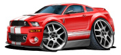 """Ford Garage Decor 2006-10 Mustang Shelby GT500 Large 60cm x 48"""" (1.2m Long) Wall Graphic Decal Sticker Man Cave Garage Decor Boys Room Decor"""