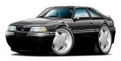 "Ford Garage Decor 1987-93 Mustang Fox Body LX 5.0 HatchbackLarge 60cm x 48"" (1.2m Long) Wall Graphic Decal Sticker Man Cave Garage Decor Boys Room Decor"