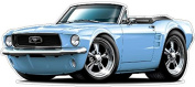 """Ford Garage Decor 1968 Mustang GT Large 60cm x 48"""" (1.2m Long) Wall Graphic Decal Sticker Man Cave Garage Decor Boys Room Decor"""