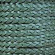 Metallic Truly Teal Flat Braided Cord - 5mm x 2m