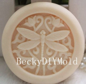 Creativemoldstore 1pcs Dragonfly & Flowers (zx09) Craft Art Silicone Soap Mould Craft Moulds DIY Handmade Soap Mould