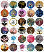30 Precut Trees of Life Images Set 1