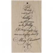 Penny Black Wood Mounted Stamps, Carolling Tree