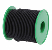 Usew 1/8-Inch (3 mm) Black Round Heavy Elastic Cord 20-Yards With Plastic Spool
