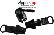 ZipperStop Wholesale Distributor YKK® Zipper Repair Kit Solution, YKK® #5 Moulded Reversible Fancy Pulls Vislon slider Made in USA - 3 Pulls Per Pack