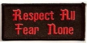 RESPECT ALL Fun Embroidered Quality Biker Vest Patch!!!