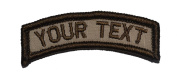 Customizable Text Tab Patch w/Hook and loop – Military/Morale - Desert Tan